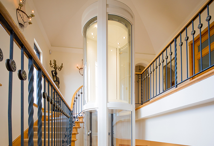 Applecross Residential Round Panoramic lift - luxury Perth home elevators