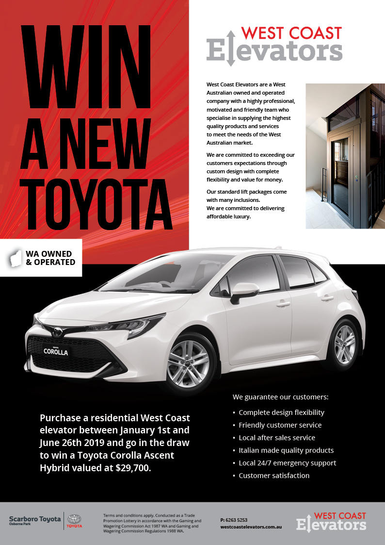 Buy a Home Elevator and WIN!