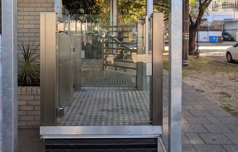 West Perth Crystal Mini Lift commercial installation