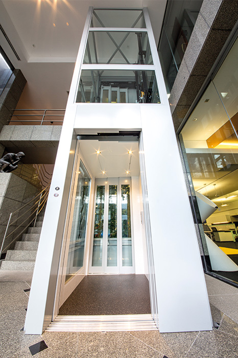 white commercial crown lift in Perth office space