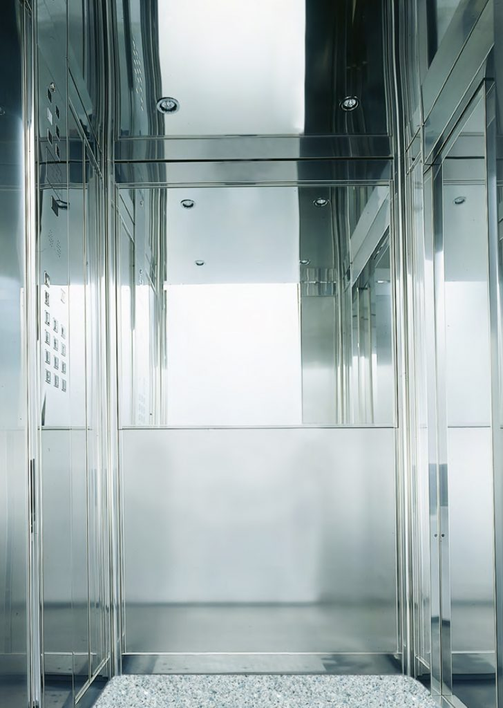 commercial lift with large cabin