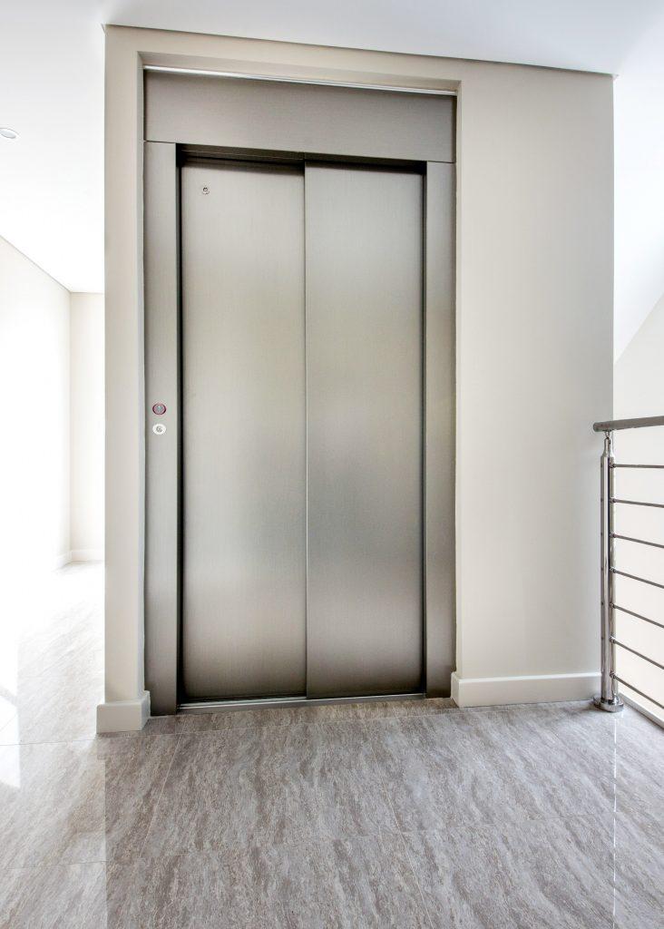 sleek stainless steel jewel home lift