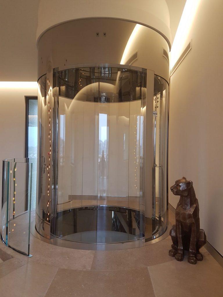 luxury glass elevator design