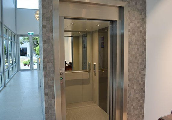 open lift with small detailed tile design