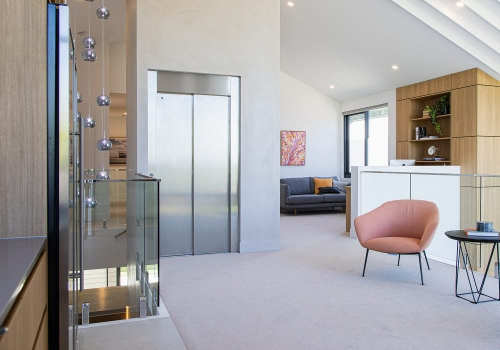 a newly built home which has an elevator installed