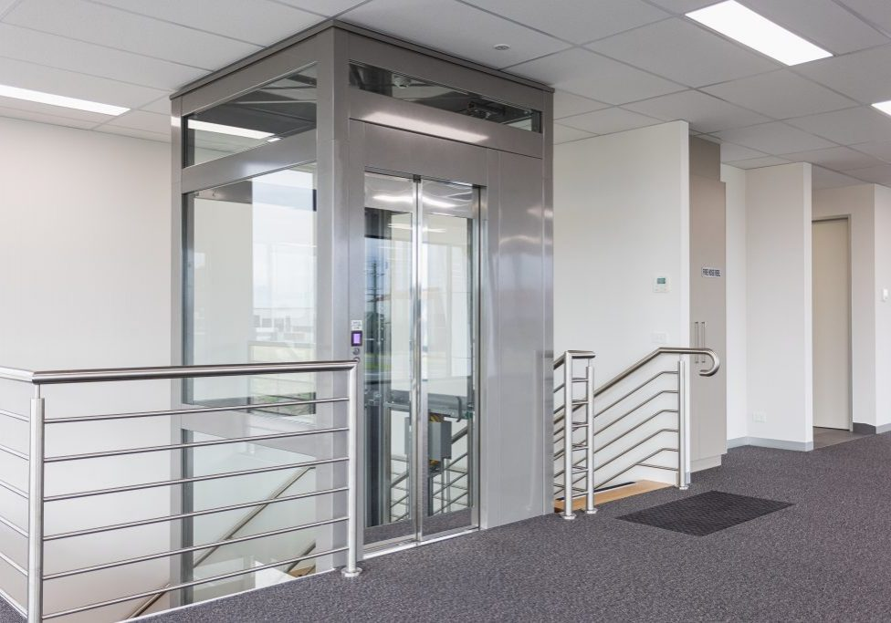commercial elevator with a large cabin size