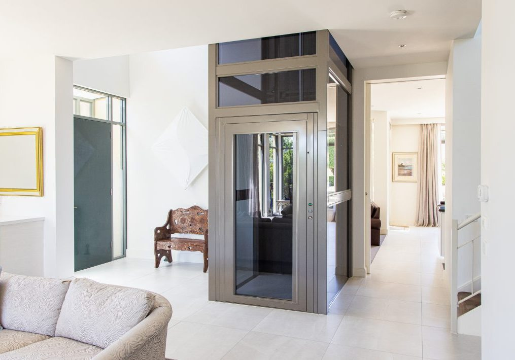 sovereign residential elevator retrofit into perth home living room