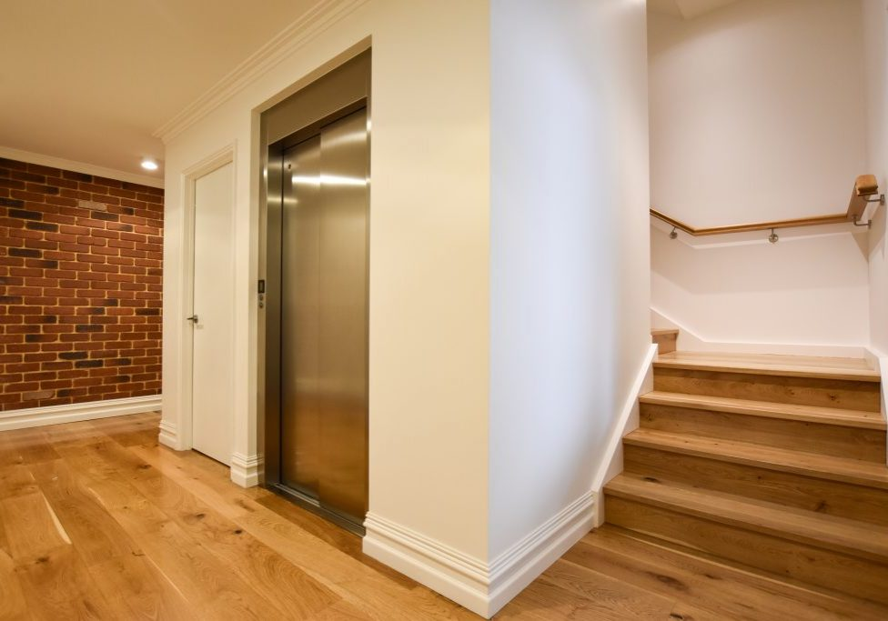 residential jewel home lift installed in stairwell void